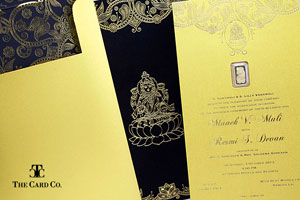 Gold Invitation Collection close-up